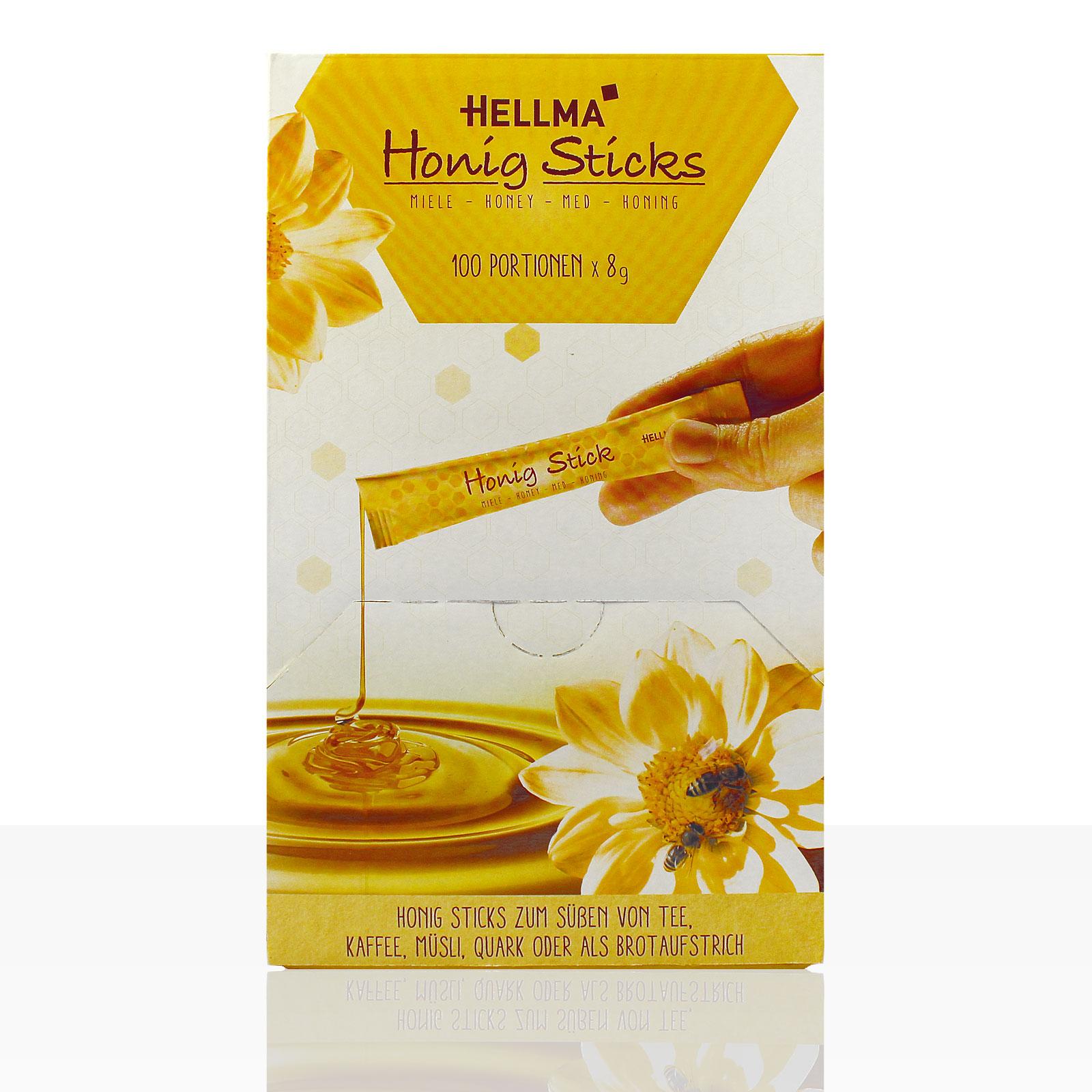 Hellma Honig-Sticks 100 x 8g