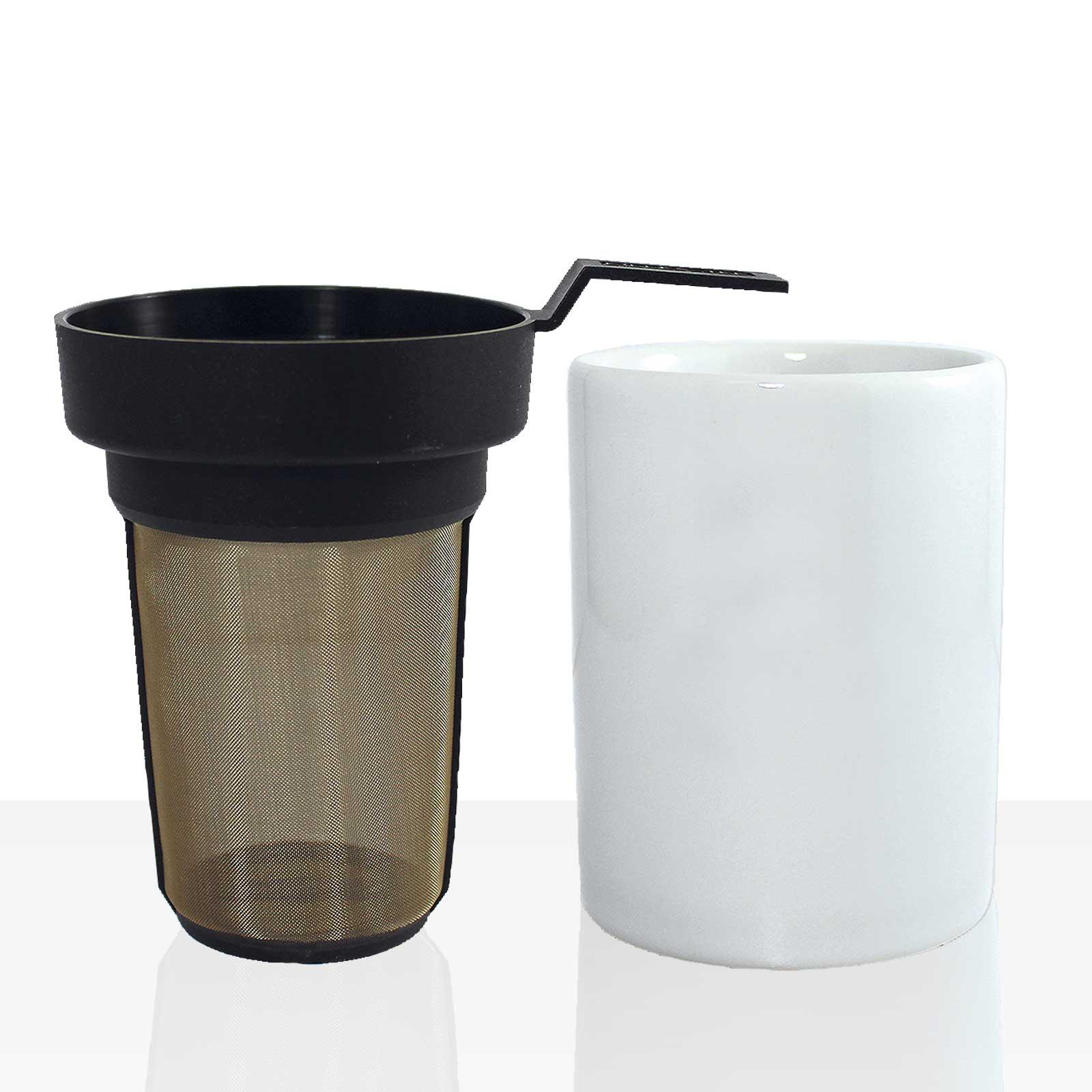 EILLES Tee-Dauerfilter + Ablagevase SET