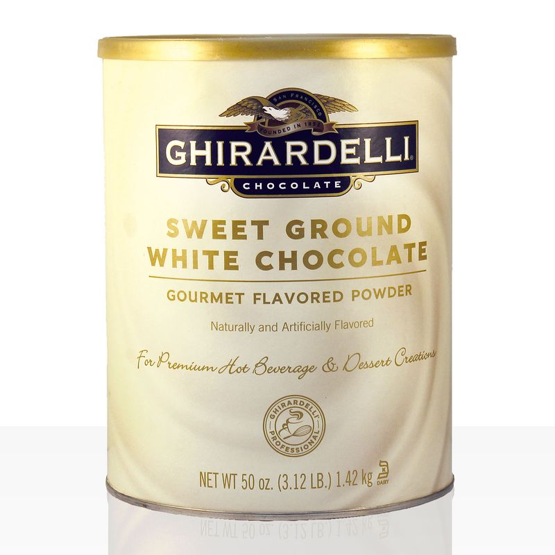 (ab 13,89 EUR/kg) GHIRARDELLI Sweet Ground Chocolate White 1,42 kg weisse Instantschokolade