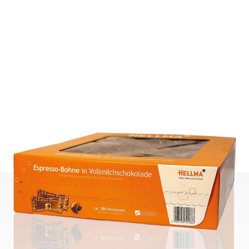 Hellma schokolierte Espressobohnen 380 x 1,1g Vollmilch