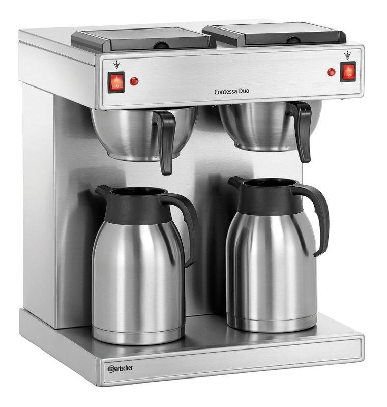 Bartscher Contessa Duo Doppel-Kaffeemaschine, 2 Edelstahl-Isolierkannen – Bild 1