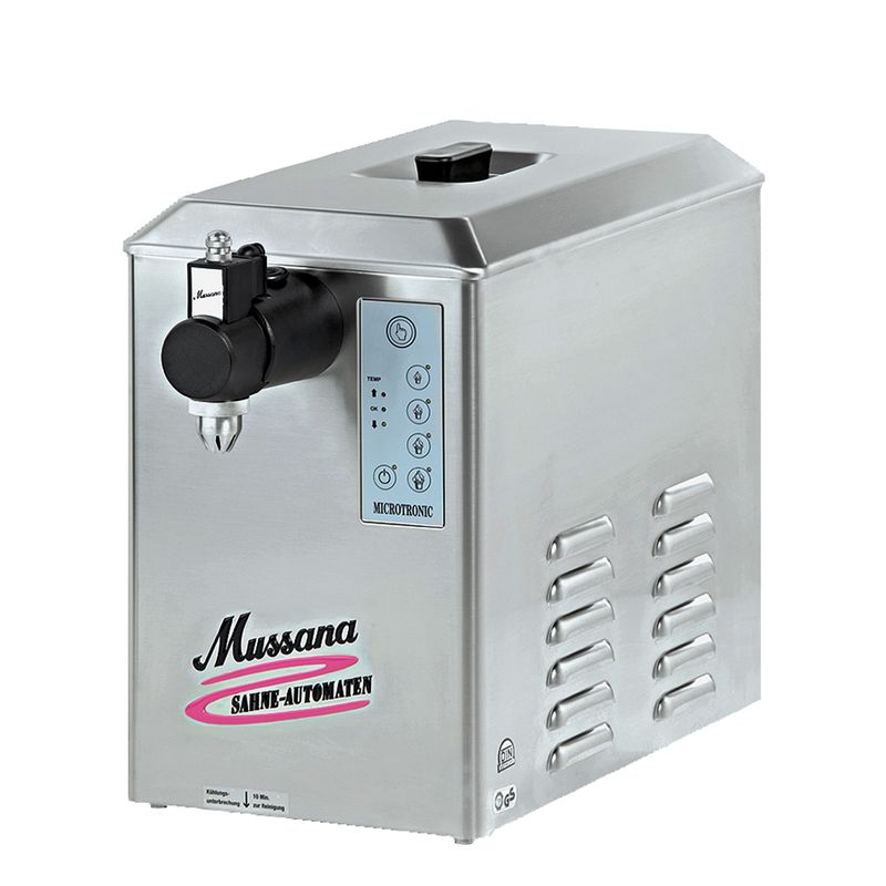 Mussana 4-Liter Boy Sahnemaschine inkl 8l Reiniger