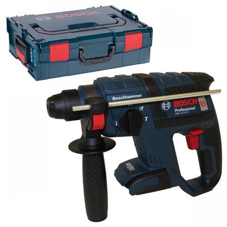 Bosch Akku-Bohrhammer mit Meißelfunktion GBH 18 V-EC SOLO in der L-Boxx Gr. 2 mit Einlage