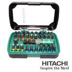 Hitachi Bitsatz Box Set 32-tlg PH, PZ, Torx, Schlitz, Innensechskantschlüssel mit Bit-Halter 001