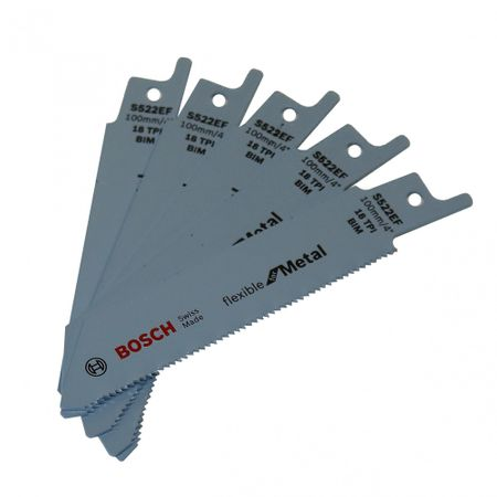 Bosch 5er-Pack Säbelsägeblätter S 522 EF - Flexible for Metal - für GSA 10,8