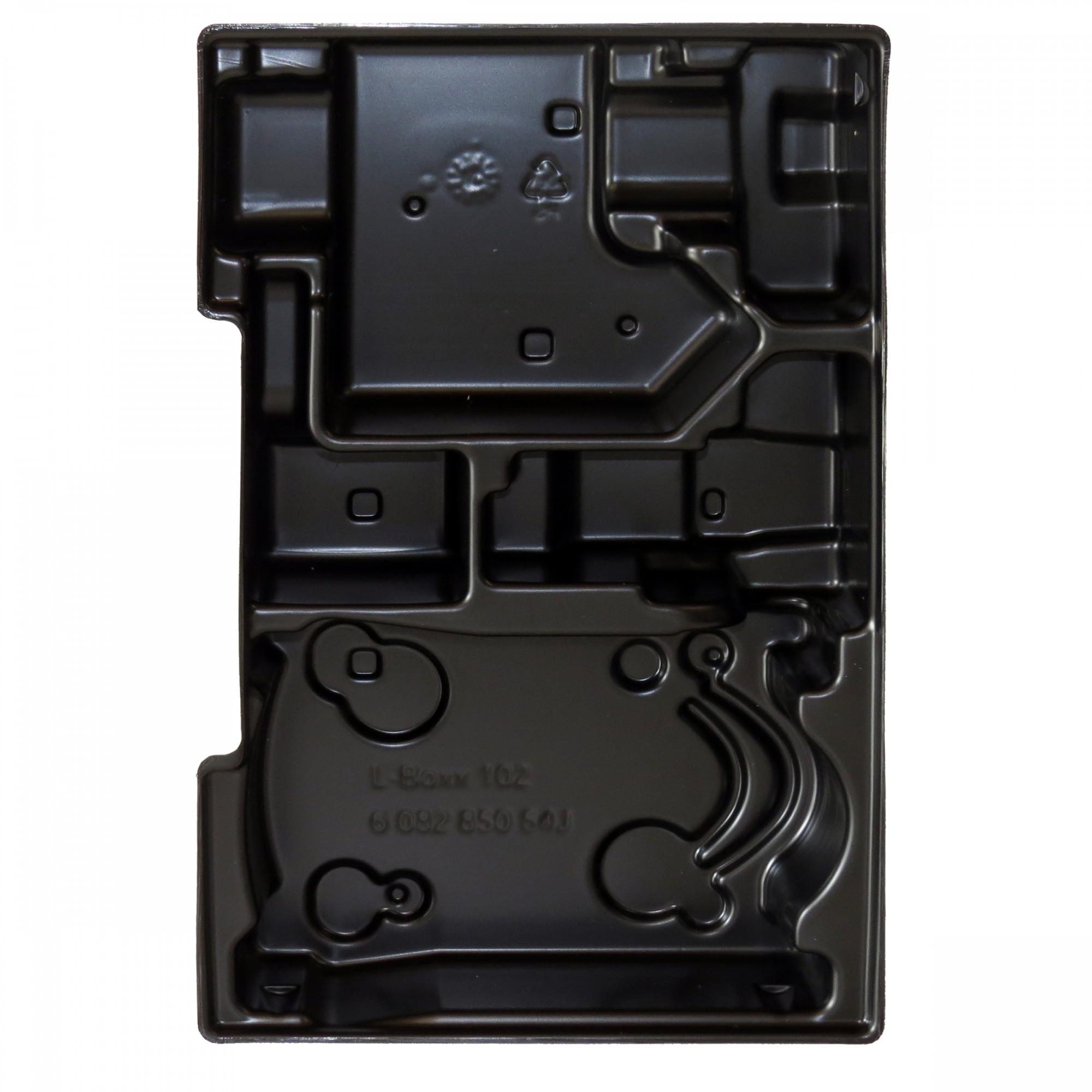 bosch 1 2 l boxx einlage f r ladeger t und akkus 10 8v 4 0 ah f r l boxx 102 elektrowerkzeuge. Black Bedroom Furniture Sets. Home Design Ideas