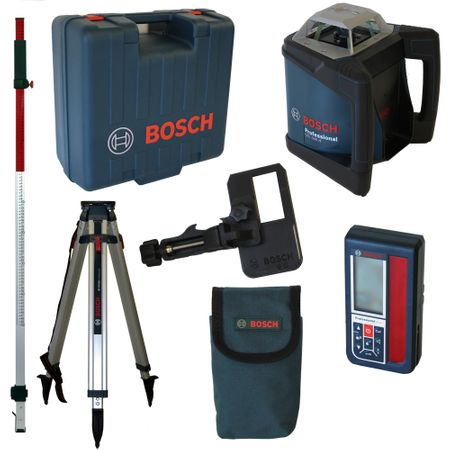 Bosch Rotationslaserset GRL500H + LR50 + BT170HD + GR 240