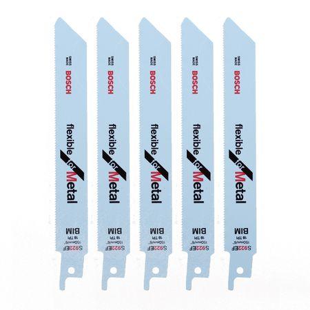 Bosch 5x Säbelsägeblätter S 922 EF Flexible for Metal