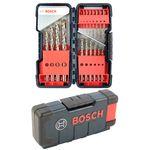 Bosch 18tlg. Metallbohrer-Set HSS-Co, DIN 338, 135°, 1-10mm in Toughbox 001