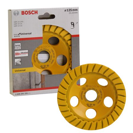 Bosch Diamanttopfscheibe Best for Universal Turbo, 125 x 22,23 x 5 mm