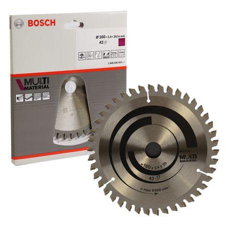 Bosch Sägeblatt Multi Material 160X20/16 2,4/1,8 Z 42 TR-F