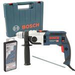 Bosch Schlagbohrmaschine GSB 19-2 RE im Handwerkerkoffer + Bosch Robust Line-Mehrzweckbohrer-Set CYL-9, 7-teilig 001