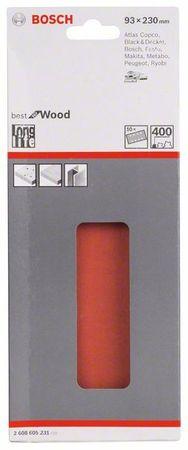 Bosch Schleifblatt Best for Wood, 10er-Pack, 93x230, 8 Löcher, gespannt, Körnung P400