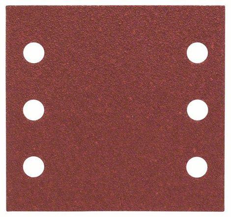 Bosch Schleifblatt Best for Wood, 10er-Pack, 115x107, 6 Löcher, Klett, Körnung P60 – Bild 2