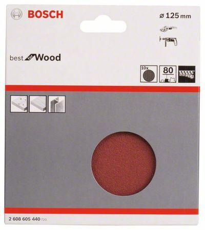 10Winkels.B.f.Wood,Ø125mm,Klett,P80 – Bild 1