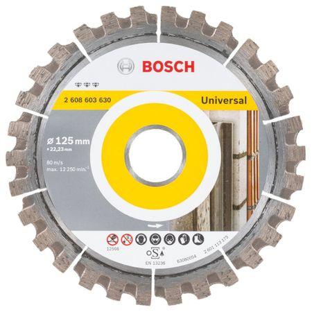 Bosch Diamanttrennscheibe Best for Universal, 125 x 22,23 x 2,2 x 12 mm