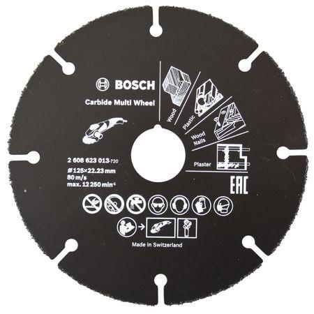 Bosch Trennscheibe Hartmetall Multi Wheel 125 mm, 22,23 mm, 1 mm