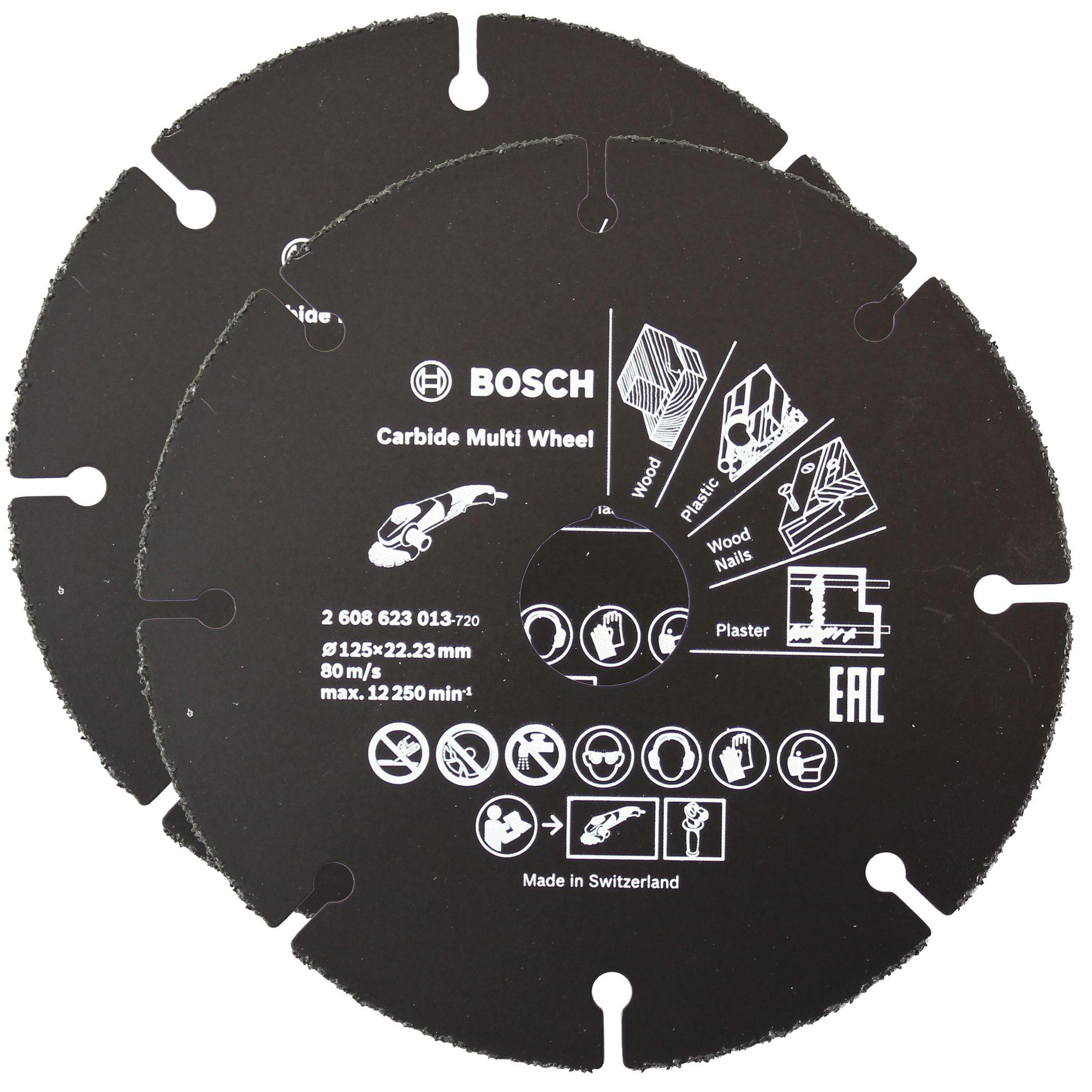 2x Bosch Trennscheibe Hartmetall Multi Wheel 125 Mm 22 23 Mm 1 Mm