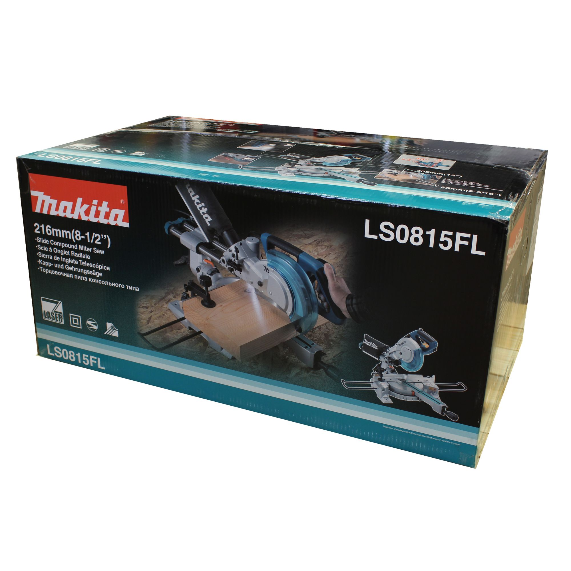 makita ls0815fl laser kapps ge und gehrungss ge 216mm mit zugfunktion ebay. Black Bedroom Furniture Sets. Home Design Ideas