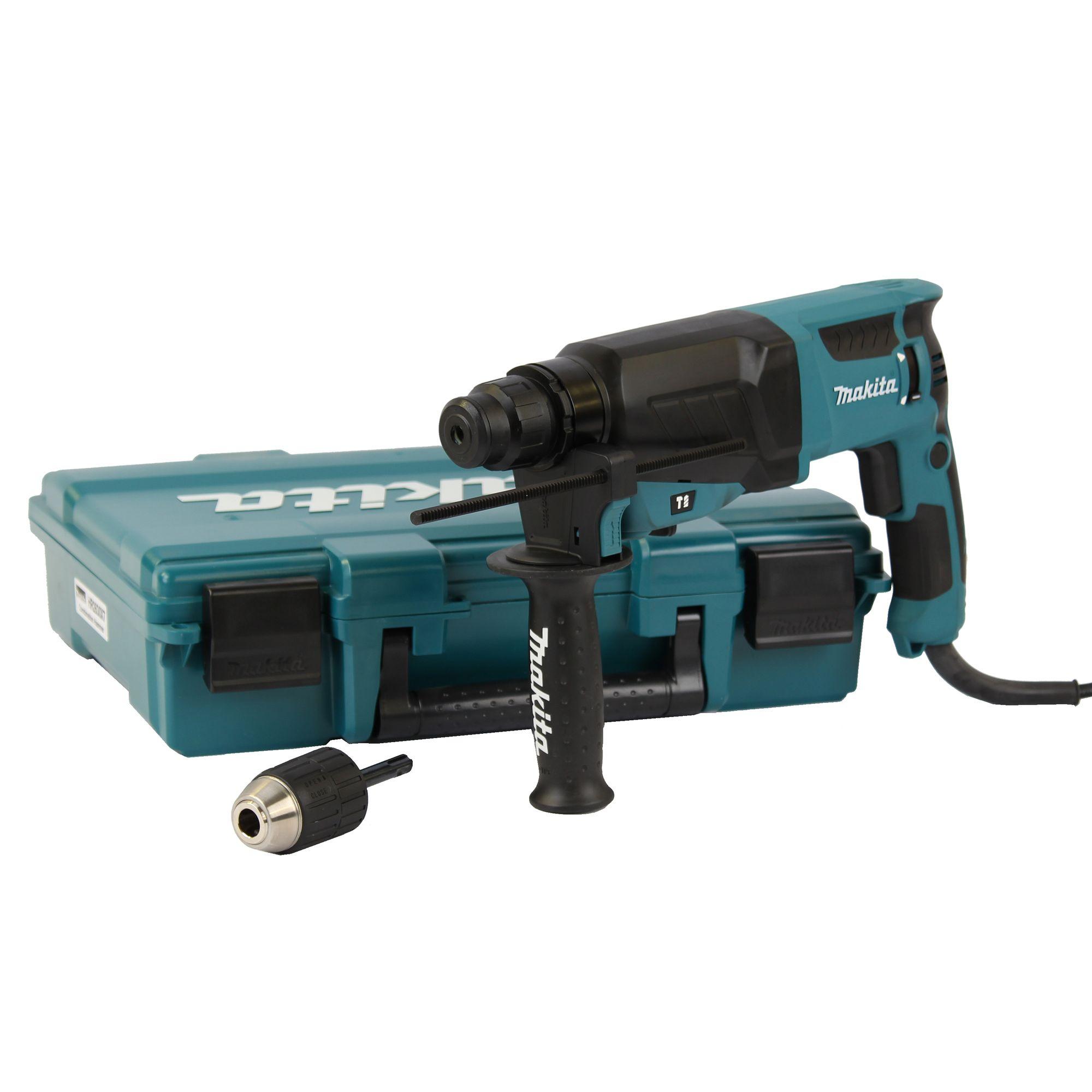 makita hr 2630 x7 800 watt 2 4 joule bohrhammer mit sds plus aufnahme im koffer. Black Bedroom Furniture Sets. Home Design Ideas