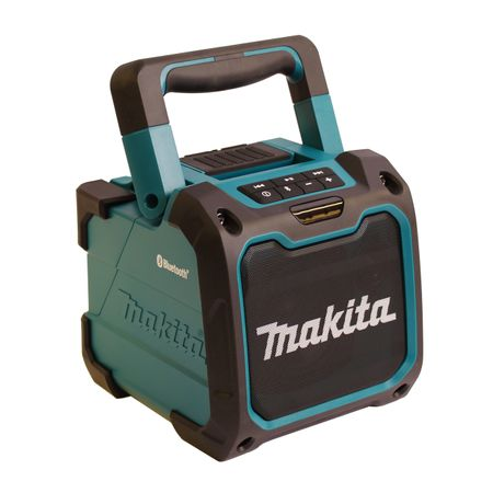 Makita DMR200 Kabelloser Bluetooth Lautsprecher Blau/Schwarz mit USB – Bild 1