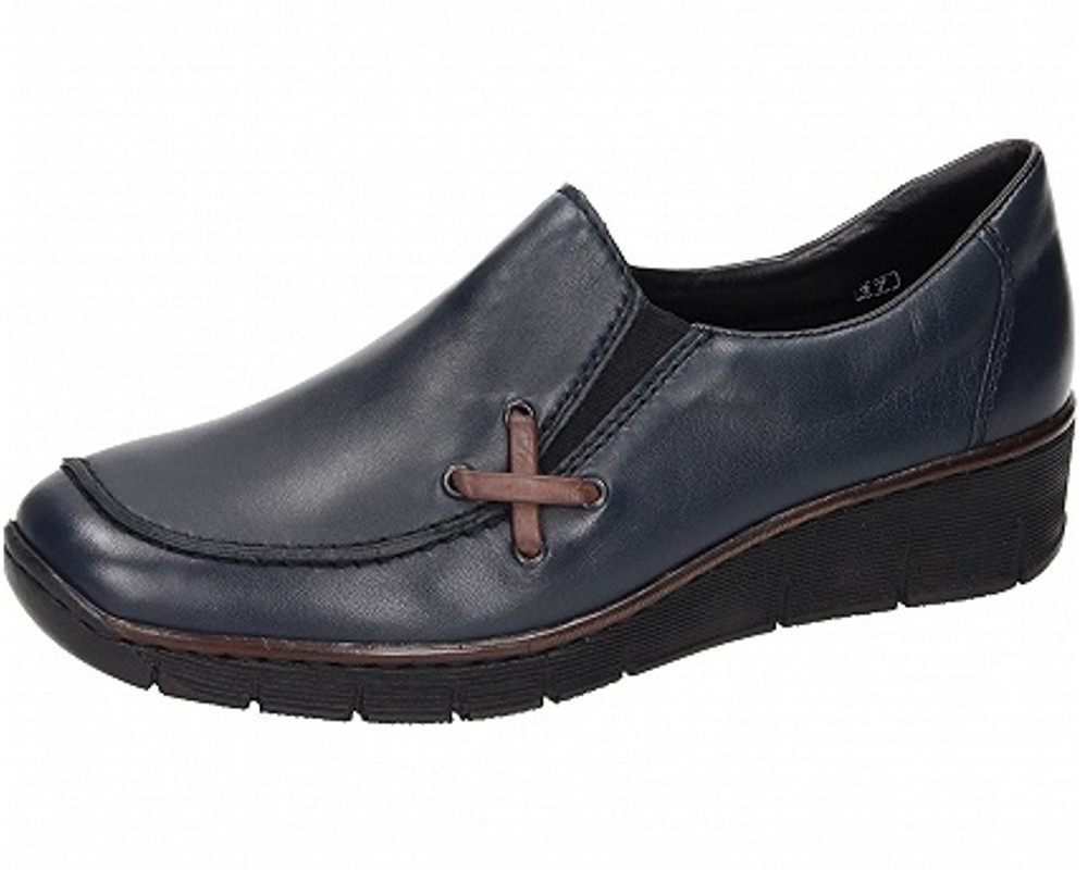 factory price 22774 ee47a 53783 Slipper Rieker Schuhe Damen Blau 14 srdhQCt