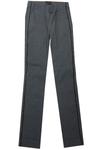 Stehmann INA 3 - 762 grau mit Seitenstreifen Eyecatcher Pull on Hose mit Schlitz