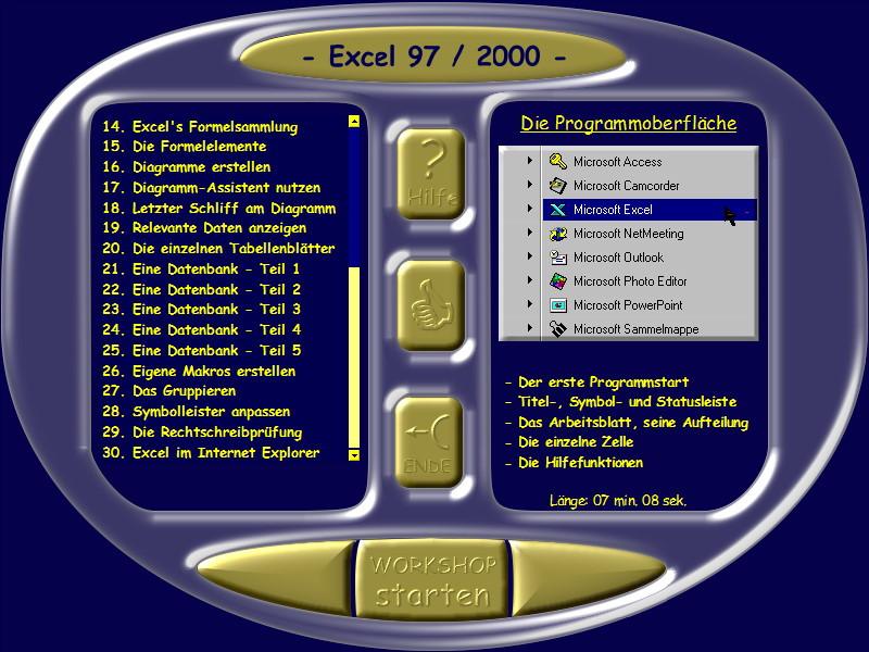 Microsoft Excel 97/2000 Lernkurs – Bild 5