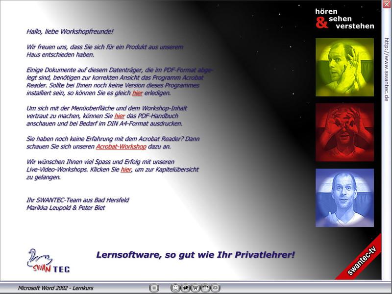 Microsoft Word 2002 Lernkurs – Bild 2