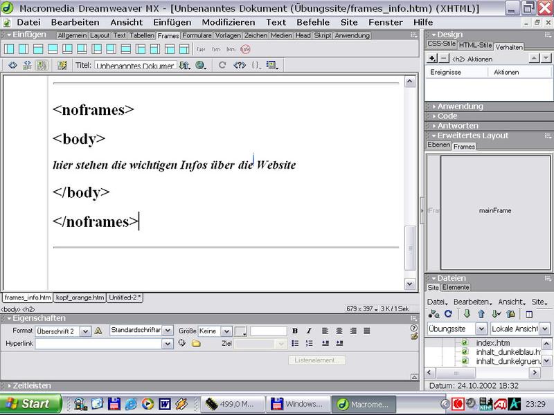 Macromedia Dreamweaver Praxiskurs – Bild 4