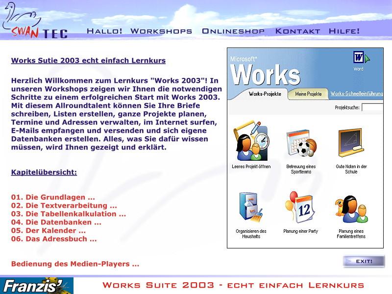 Microsoft Works Suite 2003 Lernkurs – Bild 3