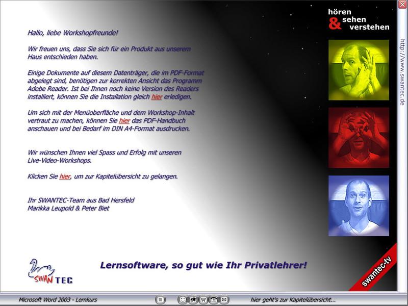 Microsoft Word 2003 Lernkurs – Bild 2
