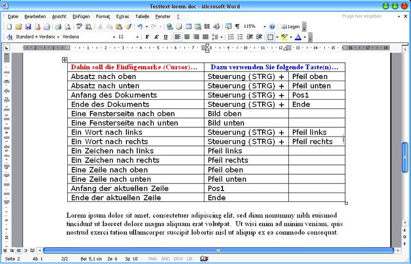 Microsoft Word 2003 Lernkurs – Bild 4