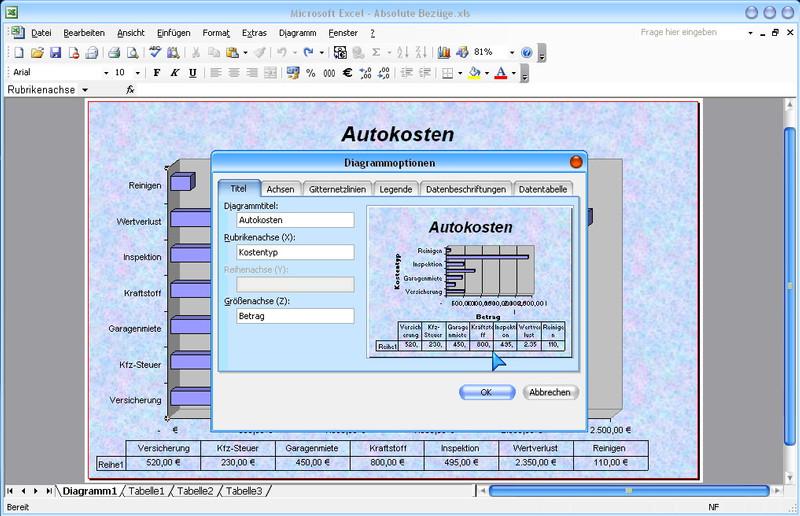 Microsoft Excel 2003 Lernkurs – Bild 4