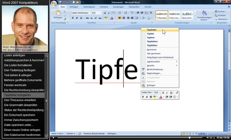 Microsoft Word 2007 Kompaktkurs – Bild 4