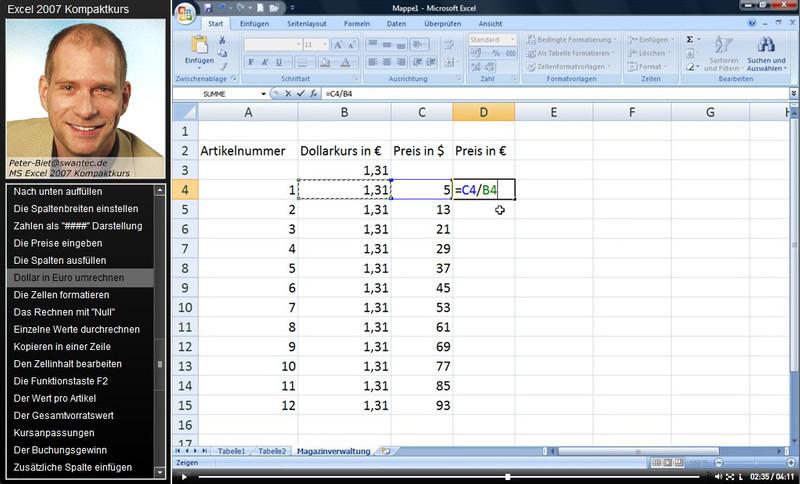 Microsoft Excel 2007 Kompaktkurs – Bild 4