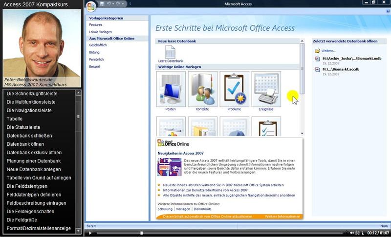 Microsoft Access 2007 Kompaktkurs – Bild 3