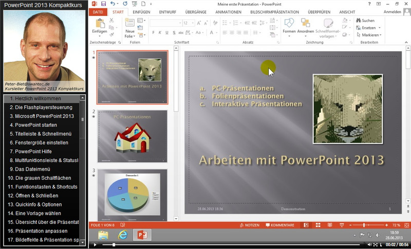 Microsoft PowerPoint 2013 Kompaktkurs – Bild 3