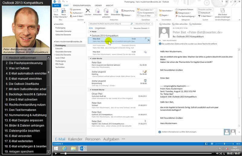 Microsoft Outlook 2013 Kompaktkurs – Bild 3