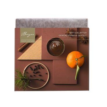 Berger Bio Edelbitter Schokolade mit Gewürz-Orange gefüllt 100 g – Bild 1
