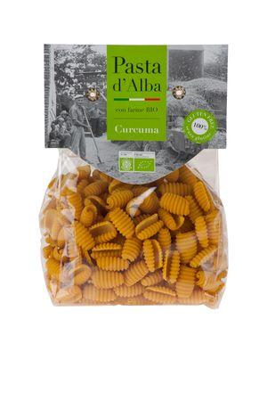 Reis Gnochetti mit Kurkuma - glutenfrei - Pasta aus Reismehl - 250 g Bio – Bild 1