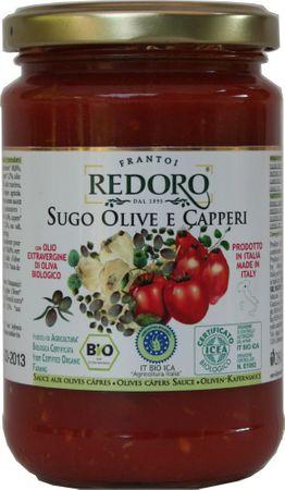 Bio Tomatensoße mit Oliven und Kapern 290 g  -  sugo olive e caperi, bio – Bild 1