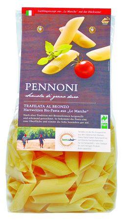 "Bio Pennoni 500 g  Naturland ""Fair"" - original italienische Hartweizen Pasta aus ""Le Marche"" – Bild 1"