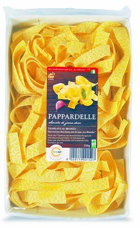 """Bio Pappardelle mit Ei 250 g Naturland """"Fair""""-  italienische Hartweizen Pasta mit Ei aus """"Le Marche"""" – Bild 1"""