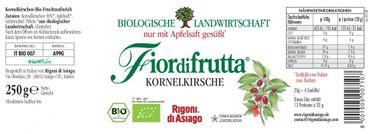Fiordifrutta Kornelkirschen Aufstrich, 250 g, Bio – Bild 2