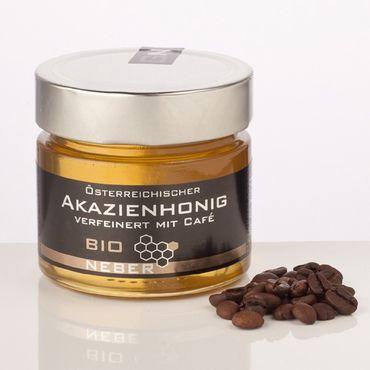 Bio Akazienhonig verfeinert mit Bio Cafe, 250 g