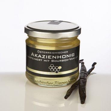 Bio Akazienhonig verfeinert mit Bio Bourbon-Vanille, 250 g