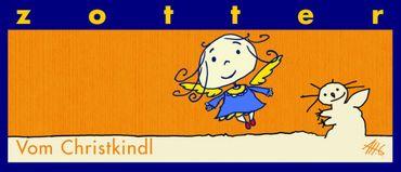 Vom Christkindl- Weiße Schokolade gefüllt mit Honig-Karamell-Crisps  - 70 g - Bio & Fair – Bild 1