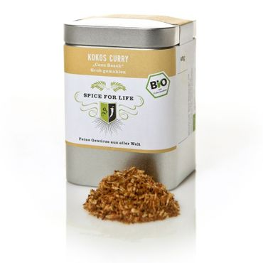 Kokos Curry - Coco Beach, Bio - Dose 80 g – Bild 1