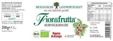 Fiordifrutta Kornelkirschen Aufstrich, 250 g, Bio - 2 er Set (2 x 250 g) – Bild 2